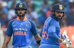 It will be interesting to see if the Indian selectors play both skipper Virat Kohli (left) and deputy Rohit Sharma for the full course of the limited-overs series against Australia.