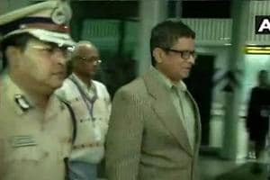 Police commissioner Rajeev Kumar arrives in Kolkata after being questioned by CBI in Shillong in connection with Saradha case.