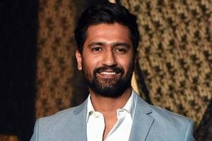 Vicky Kaushal pose for a picture during the wedding reception of film producer Mukesh Bhatt