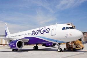 The IndiGo flight experienced an oil pressure warning on one of its engines.