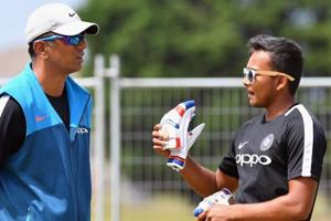 File image of India A coach Rahul Dravid with Prithvi Shaw.