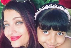 Aishwarya Rai with daughter Aaradhya in a post on Instagram.