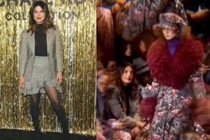 Priyanka Chopra attends New York Fashion Week.