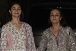 Alia Bhatt with her mother Soni Razdan at the screening of film Uri: The Surgical Strike in Mumbai.