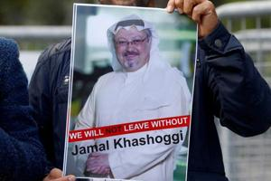 Turkey's state-run news agency is quoting a police report suggesting that the Turkish fiancee of slain journalist Jamal Khashoggi may have escaped being a second victim of the killing.