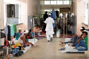 File photoof the Rajendra Institute of Medical Sciences (RIMS), Ranchi.  The hospital's doctors have threatened to go on a hunger strike over the issue of 7th Pay Commission.