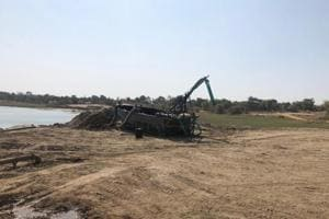 Police say some boats were fitted with high-tech equipment to dredge very fine sand, and there were other dedicated boats with a capacity of 10 tonnes to load the mined sand.