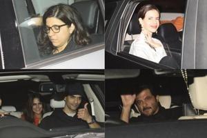Zoya Akhtar, Kalki Koechlin, Neha Dhupia, Angad Bedi, Anil Kapoor at the Gully Boy screening in Mumbai.