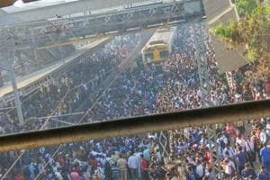 Commuters stop trains in Mumbai to protest Pulwama attack, pelt stones