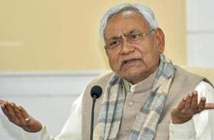 Bihar Chief Minister Nitish Kumar speaking to the media during Lok Samvad programme in Patna in January this year.
