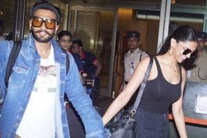 Newlyweds Ranveer Singh and Deepika Padukone seen at Mumbai