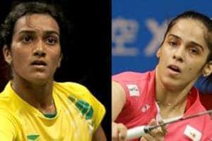 File image of PV Sindhu and Saina Nehwal.