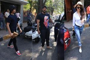 Arhaan Khan spotted with Arjun Kapoor and Malaika Arora in Mumbai.