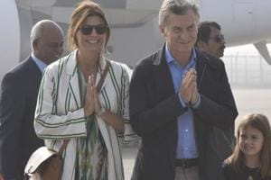 Argentinian President Mauricio Macri, who arrived in India on Sunday, is accompanied by a large delegation from Argentina's nuclear sector that will participate in the first meeting of a joint committee on nuclear issues.