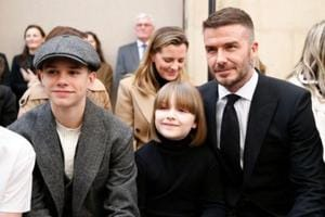 Beckham family steals the show at London Fashion Week-See pics