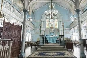 The Knesset Eliyahoo Synagogue in Mumbai.