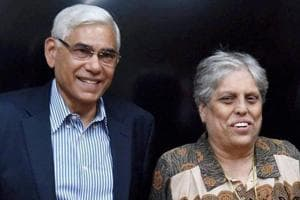 File picture of Vinod Rai, Diana Edulji