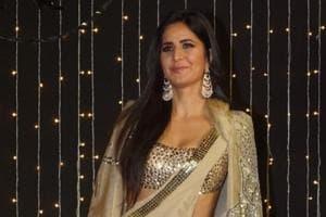 Katrina Kaif poses for cameramen at Priyanka Chopra and Nick Jonas wedding reception in Mumbai on December 20, 2018.