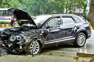 The Bentley was being driven by Ponty Chadha's nephew, Asees Singh Chadha, who was arrested by police.
