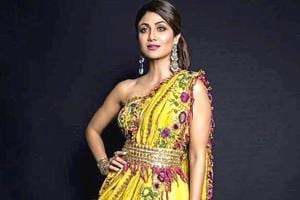 Shilpa Shetty's stunning yellow Indo-Western saree is perfect for any festive outing- See pics