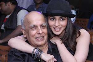 Alia Bhatt with father Mahesh Bhatt.