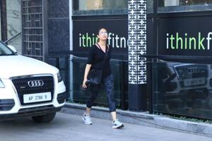 Mira Rajput spotted outside her gym.