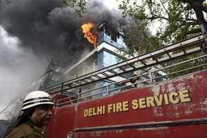 Fire breaks out in Delhi shoe factory