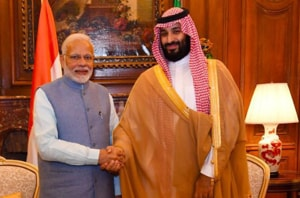 India is expected to raise Pakistan's use of cross-border terrorism with the Saudi prince, who will hold talks with PM Narendra Modi and President Ram Nath Kovind on Wednesday.