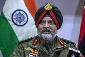 Lieutenant general Kanwal Jeet Singh Dhillon (pictured) urged Kashmiri mothers to get their militant sons to surrender or see them dead.