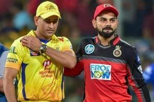 Royal Challengers Bangalore skipper Virat Kohli with his counterpart Chennai Super Kings