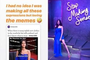 Ananya Panday reacted to her memes circulating on the social media.