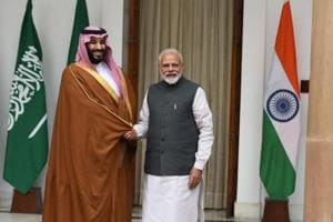 Prince Mohammed arrived late Tuesday for a 36-hour visit that was to be dominated by economic ties.