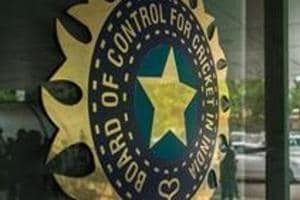 MUMBAI, INDIA JULY 19: A view of logo of the Board of Control for Cricket in India (BCCI)