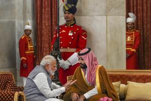 Prime Minister Narendra Modi with Saudi Arabia