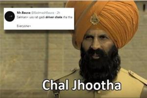 Salman Khan gets roasted in memes inspired by Akshay Kumar's Kesari.