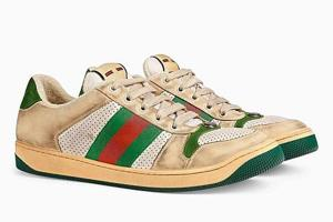 Twitter users say it seemed a bit ridiculous to purchase a pair of worn-looking sneakers for this much money. (Gucci)