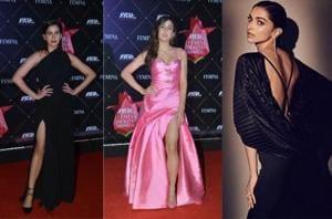 Kirti Kulhari, Sara Ali Khan and Deepika Padukone attended the Femina Beauty Awards in Mumbai on Wednesday.
