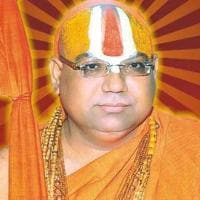 Swami Hansdevacharya died in a road accident on Friday. He was a leading figure in the Ram temple movement.