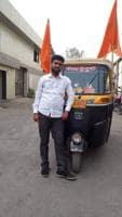 Sameer Chavan drives an auto in Virar.