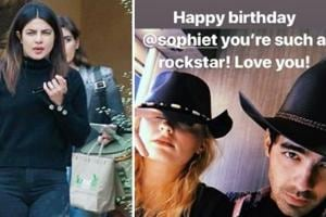 Sophie Turner turned 23 and celebrating with her were Priyanka Chopra and Nick Jonas.