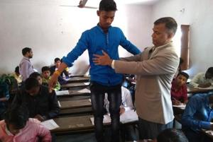 BSEBChairmanAnand Kishor on a surprise visit in exam centres