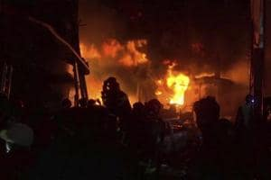 The poor family used to live in the field inside a thatched hut made of bamboos and plastic sheets that helped the flames to engulf the entire structure quickly, officers said.