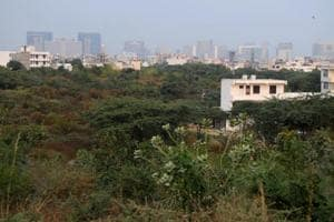 Aravali Biodiversity Park at MG road near Guru Dronacharya Metro station, in Gurugram