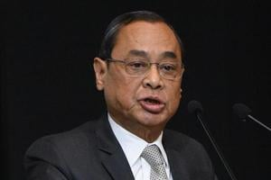 Chief Justice of India Justice Ranjan Gogoi at an event to present the first copy of