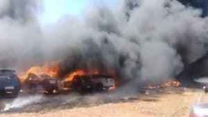 Aero India Show: Massive fire near venue, almost 300 cars burned