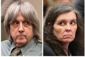 FILE PHOTO: FILE PHOTO: A combination photo shows David Allen Turpin and Louise Anna Turpin (R) making a court appearance in Riverside, California, U.S.