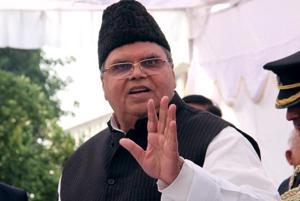 Jammu and Kashmir governor Satya Pal Malik in Jammu.