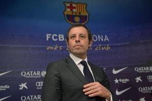 File photo of former Barcelona president Sandro Rosell.