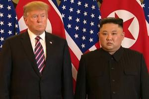 Donald Trump meets Kim Jong-un, exchange greetings at Hanoi summit