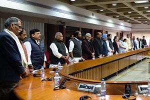 Leaders of 21 opposition parties condemned Pulwama terror attack and alleged that the ruling BJPhas used the sacrifices made by the jawans for political purposes.